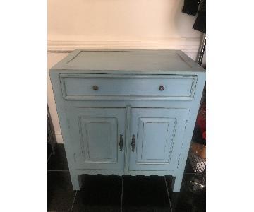 Vintage Pastel Blue Cabinet