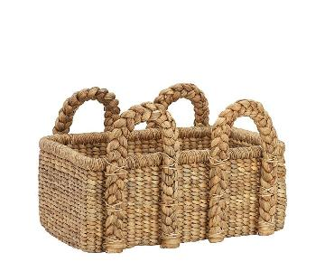 Pottery Barn Woven Storage Baskets