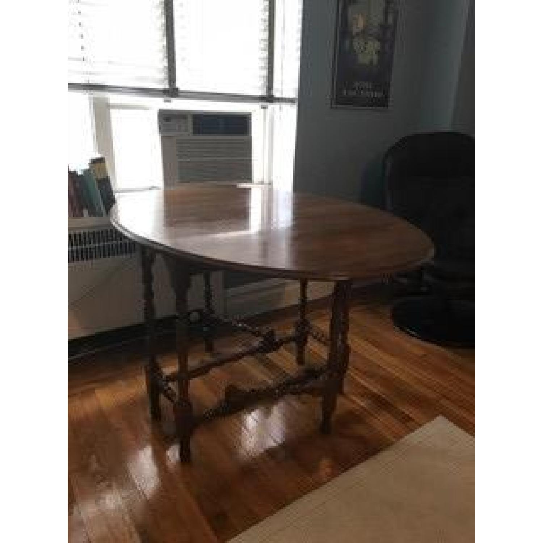 Solid Hardwood Drop Leaf Table - image-1