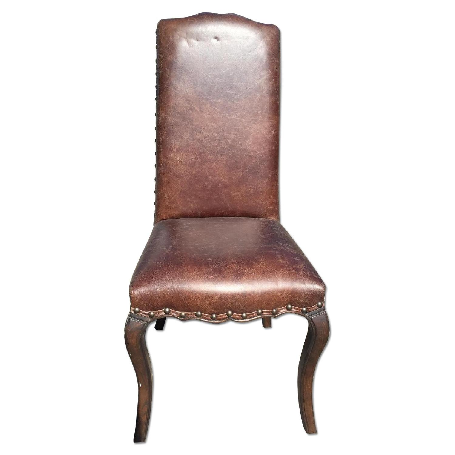 Leather Dining Chairs - image-0