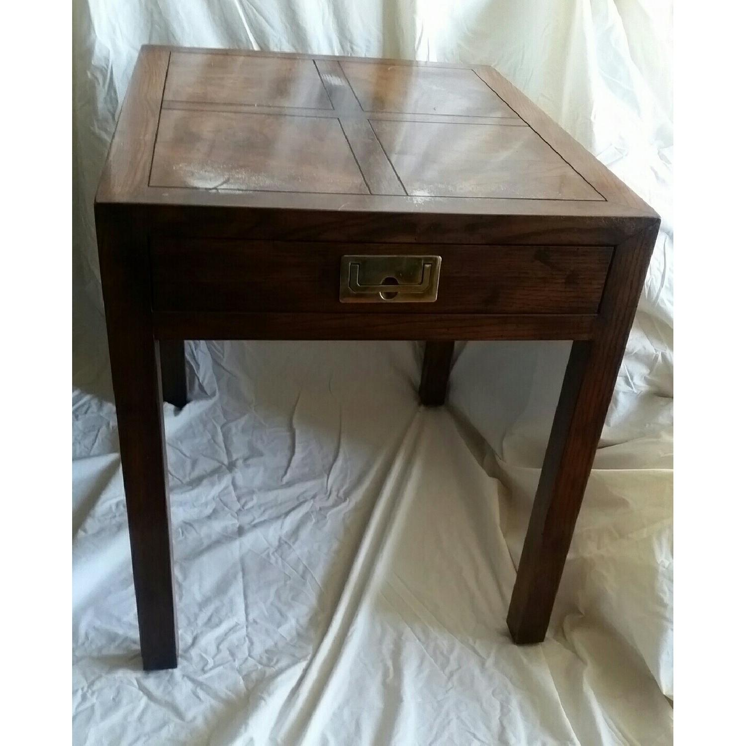 Antique Table w/ Drawer - image-1