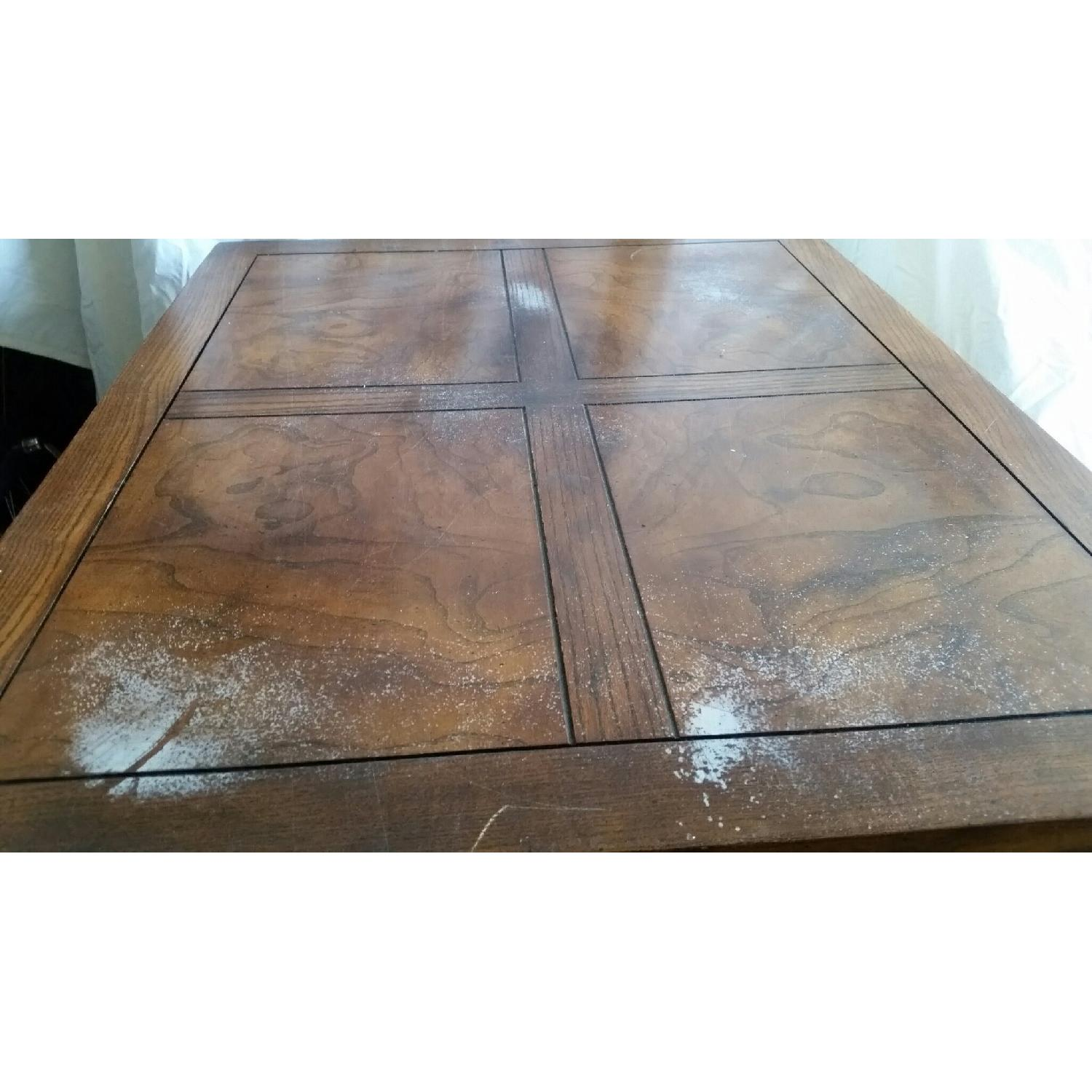 Antique Table w/ Drawer - image-3