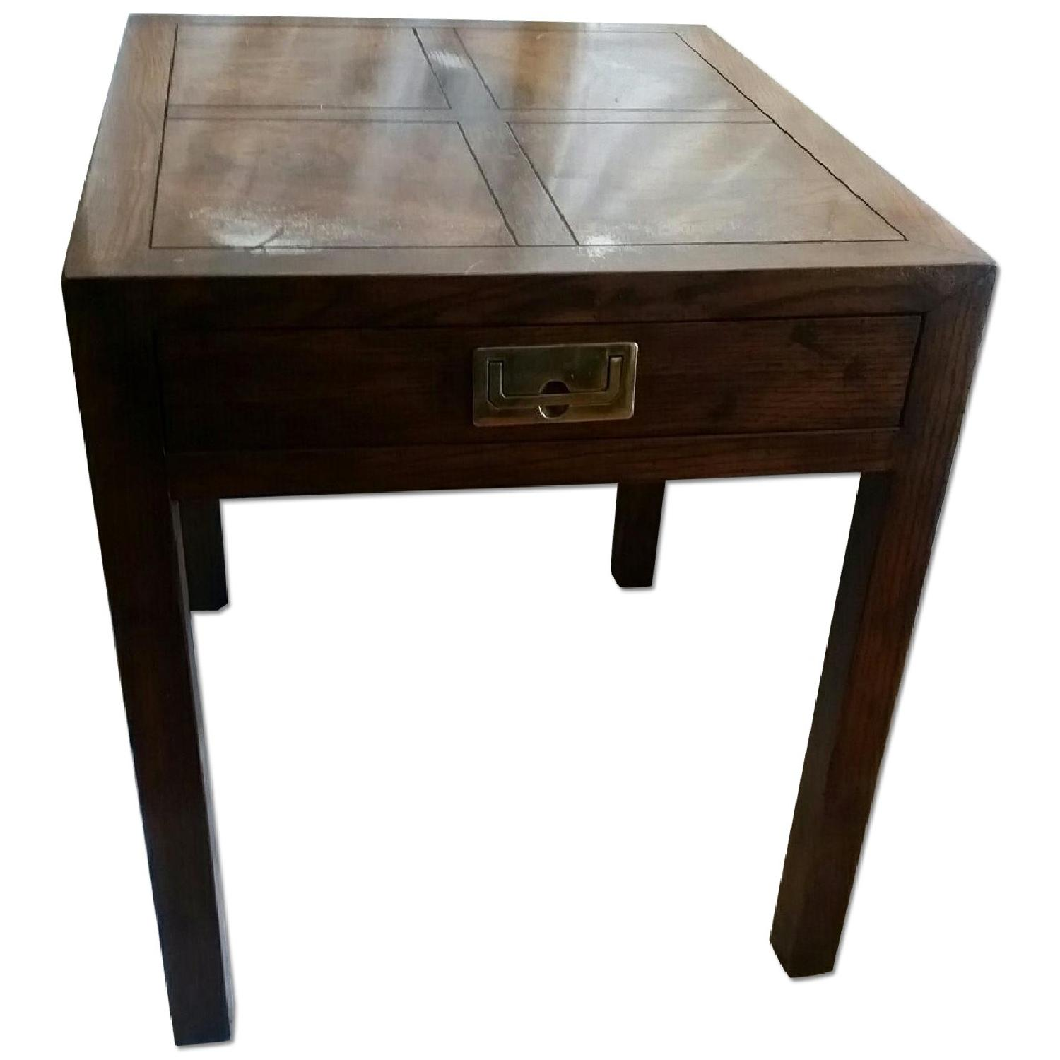 Antique Table w/ Drawer - image-0