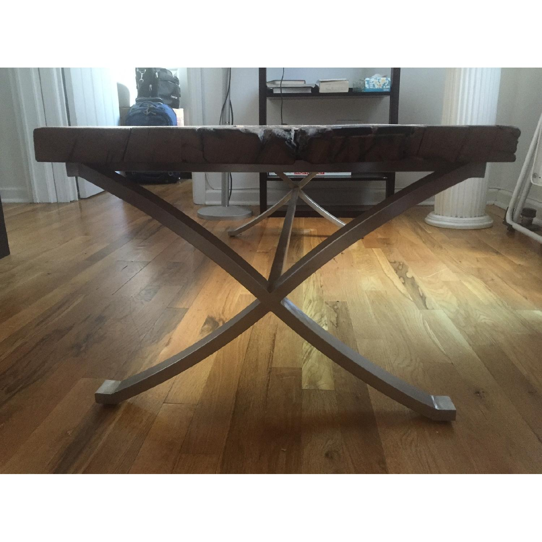 Distressed Wood Coffee Table - image-1