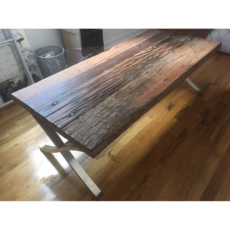 Distressed Wood Coffee Table - image-2