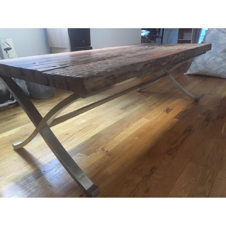 Distressed Wood Coffee Table - image-3