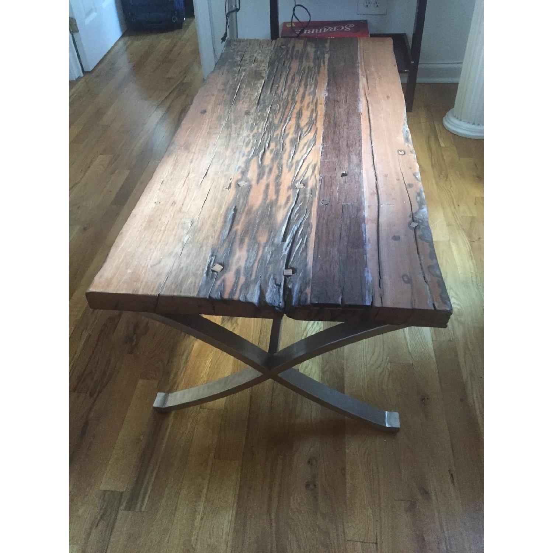 Distressed Wood Coffee Table - image-4