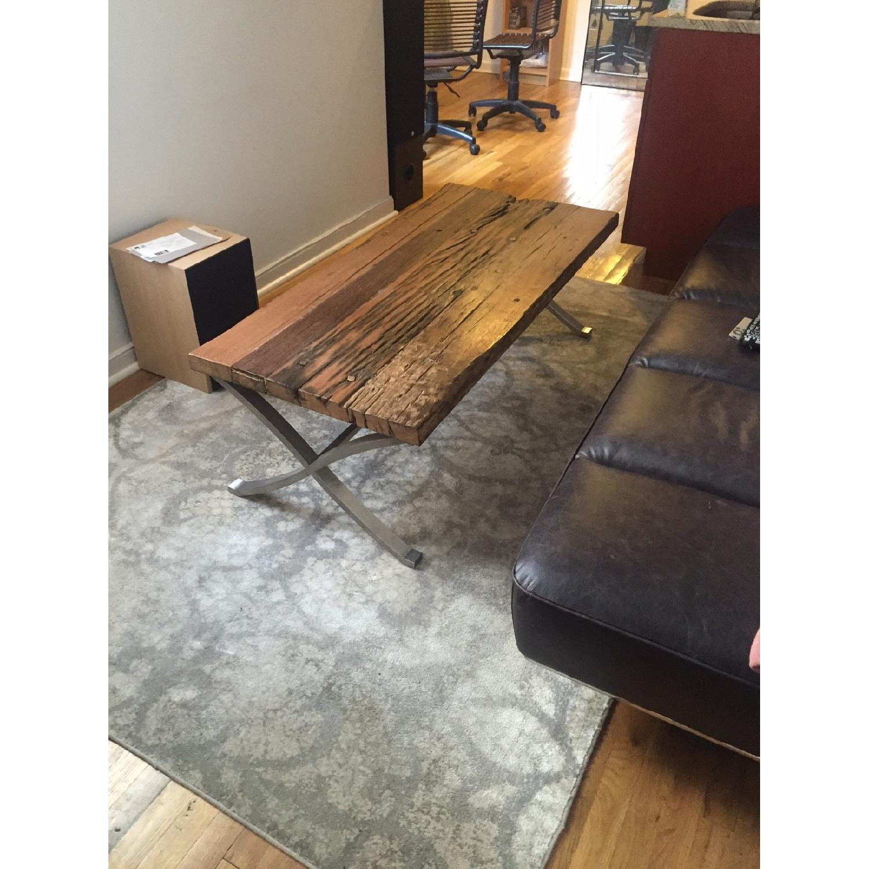 Distressed Wood Coffee Table - image-6