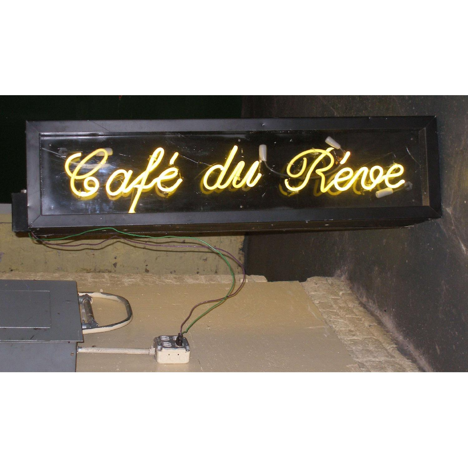 Double Sided French Neon Sign - Le Cafe Du Reve - image-1