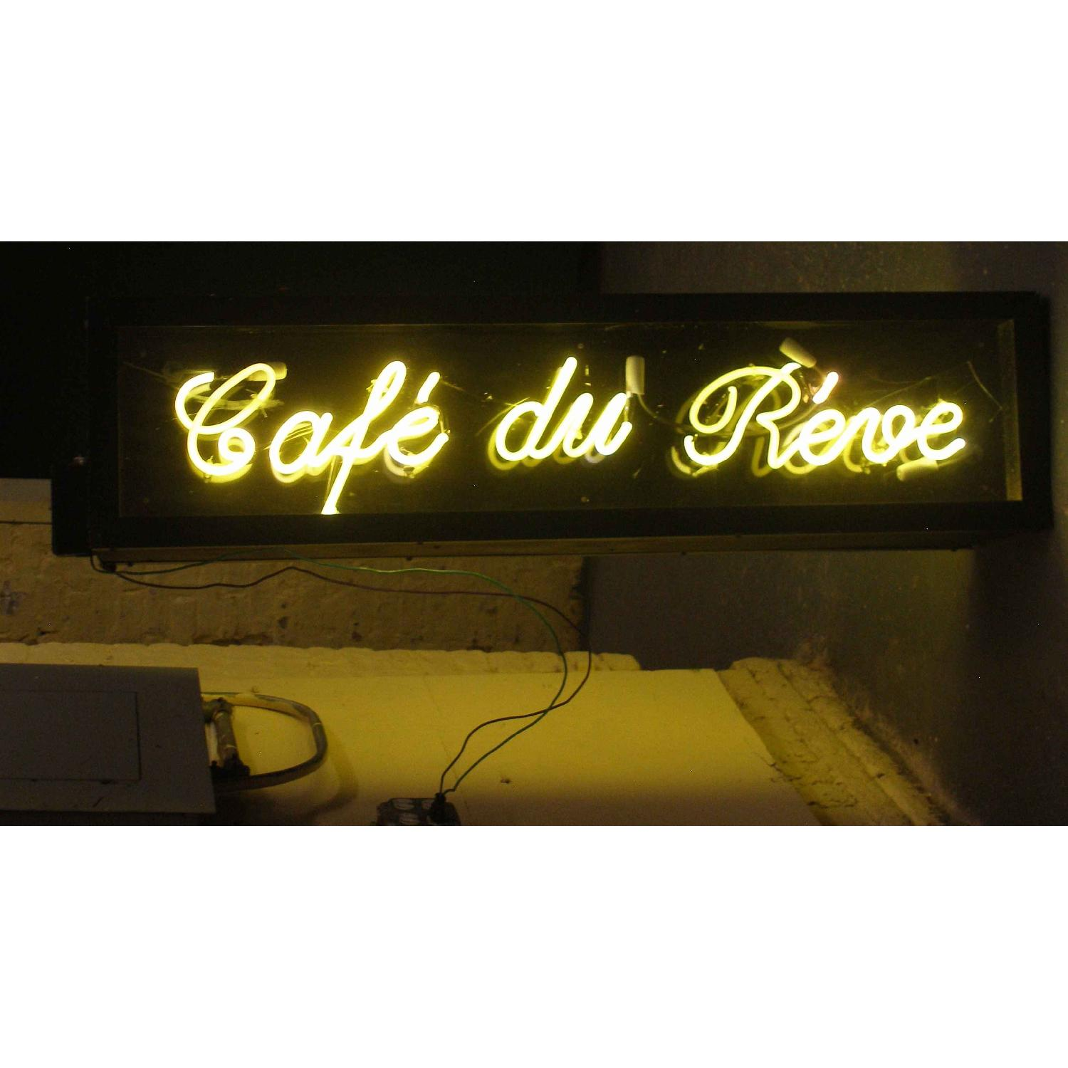 Double Sided French Neon Sign - Le Cafe Du Reve - image-2