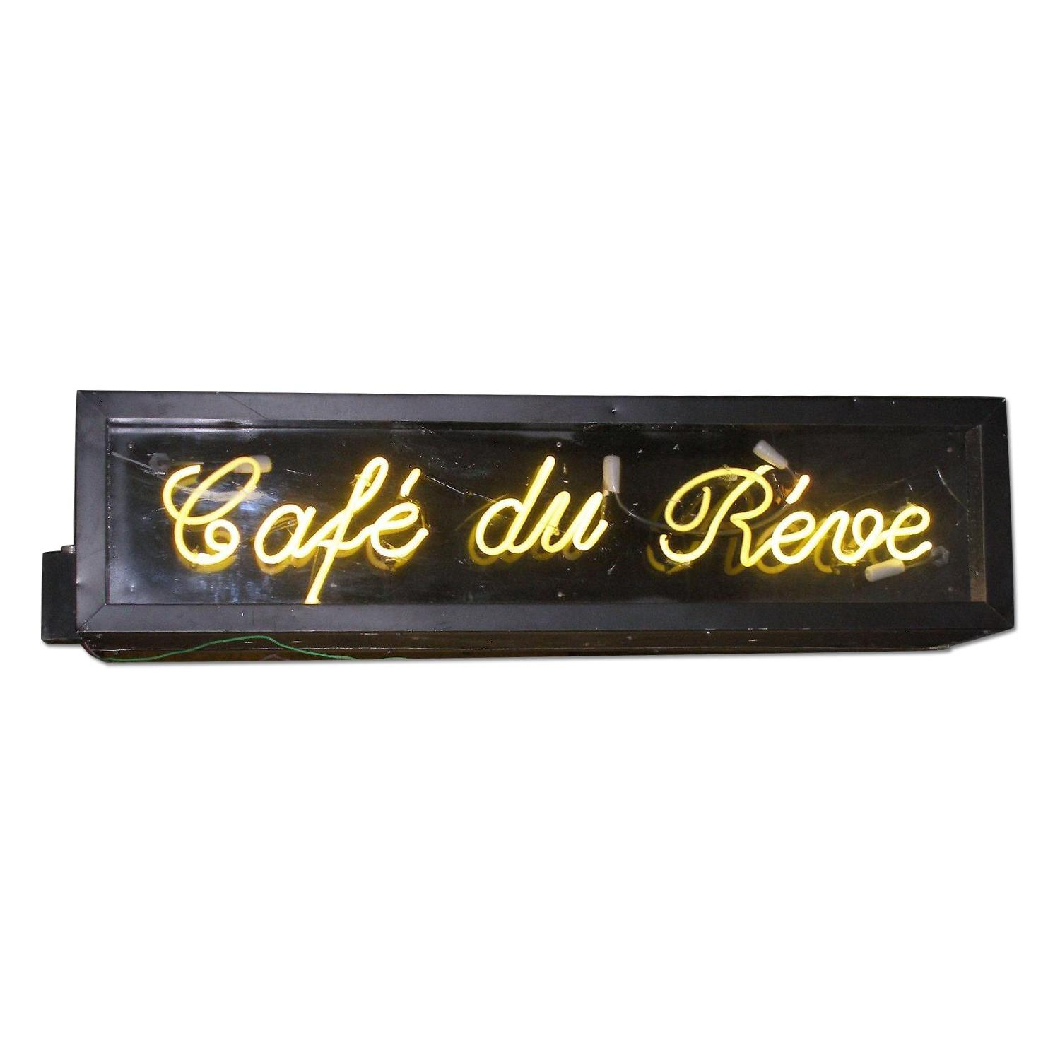 Double Sided French Neon Sign - Le Cafe Du Reve - image-0