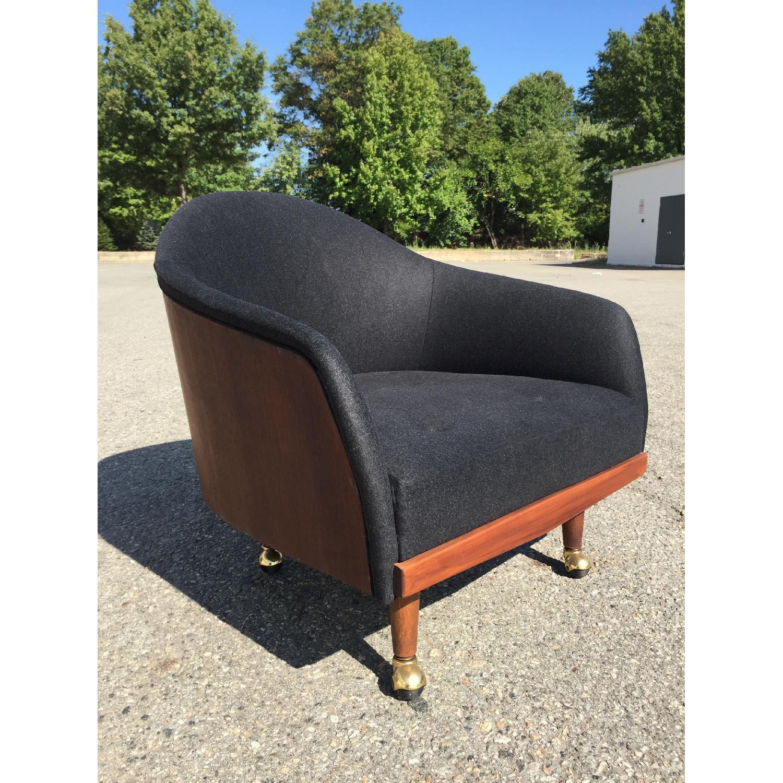 Vintage Wood-Paneled Lounge Chair - image-1