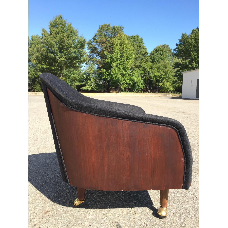 Vintage Wood-Paneled Lounge Chair - image-3