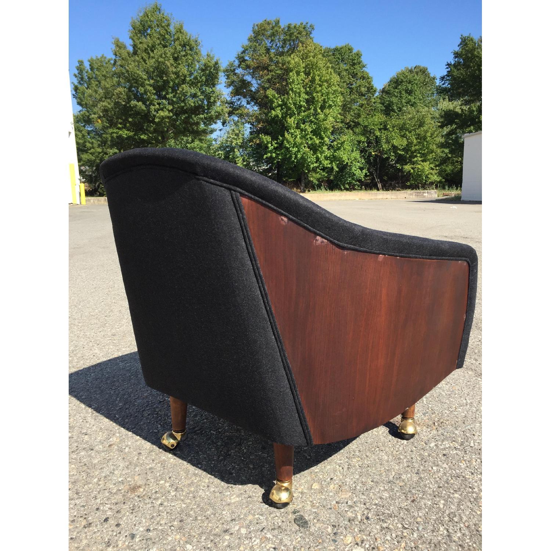 Vintage Wood-Paneled Lounge Chair - image-4