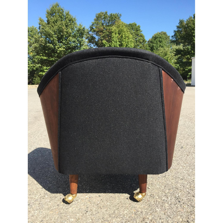 Vintage Wood-Paneled Lounge Chair - image-5