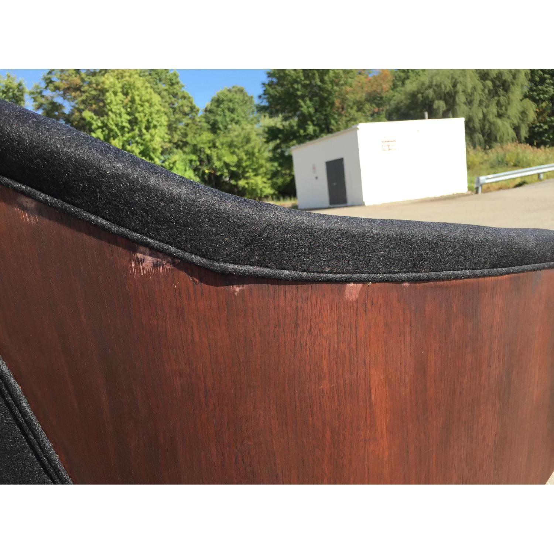 Vintage Wood-Paneled Lounge Chair - image-6
