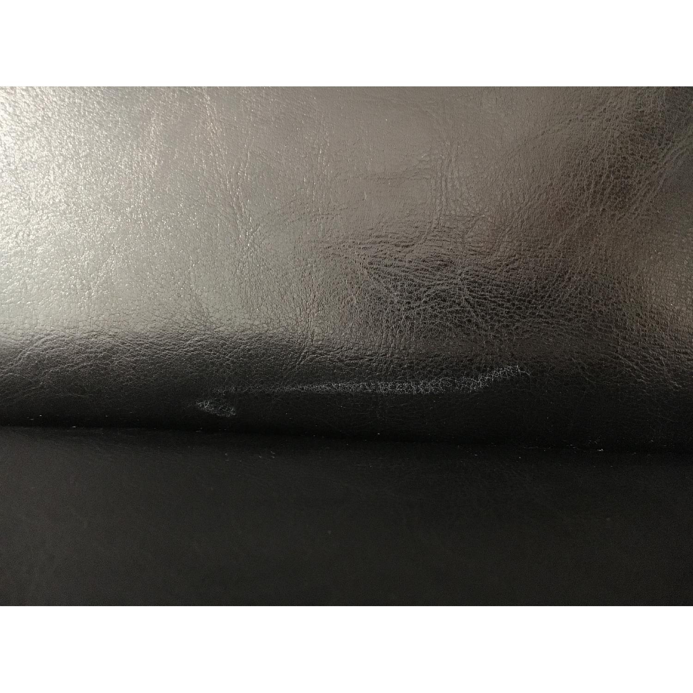Black Leather & Wood Bar Stool - image-6