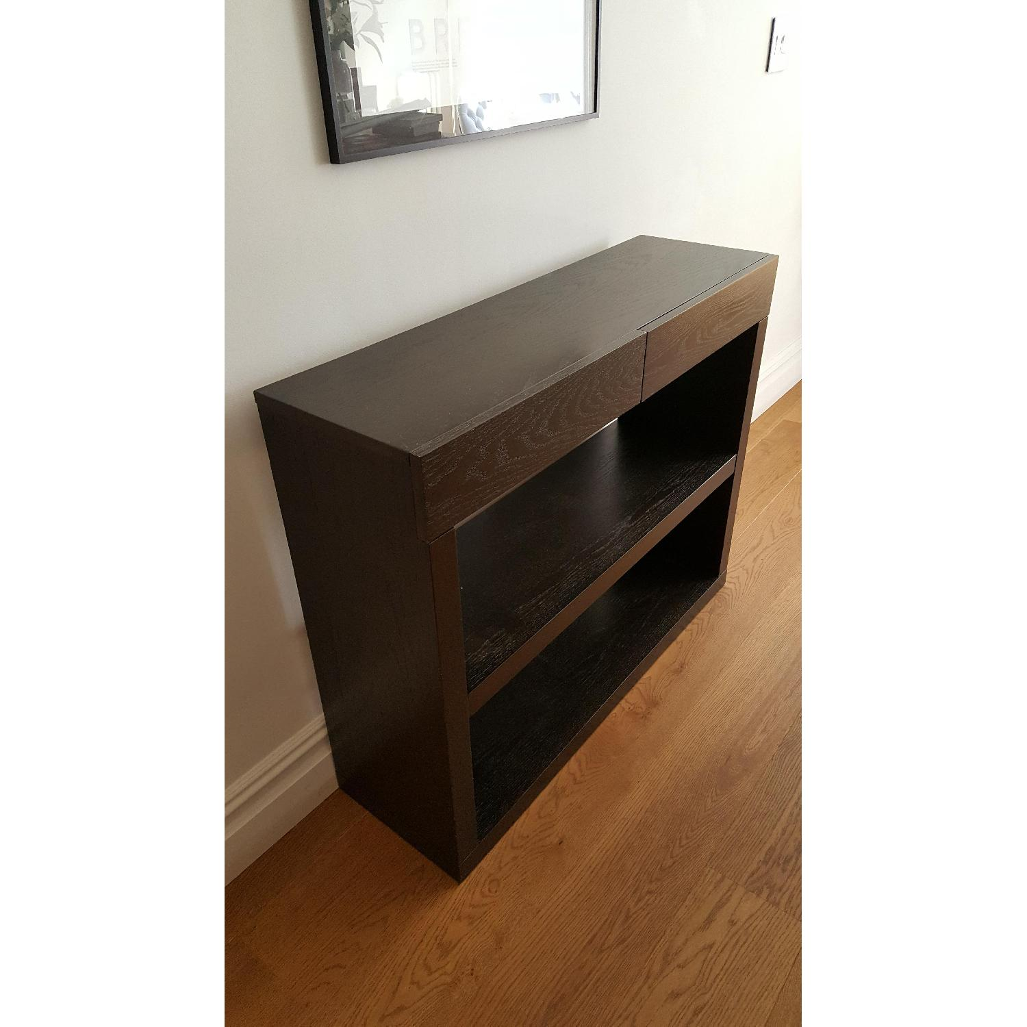 West Elm Narrow Dark Wood Console - image-1
