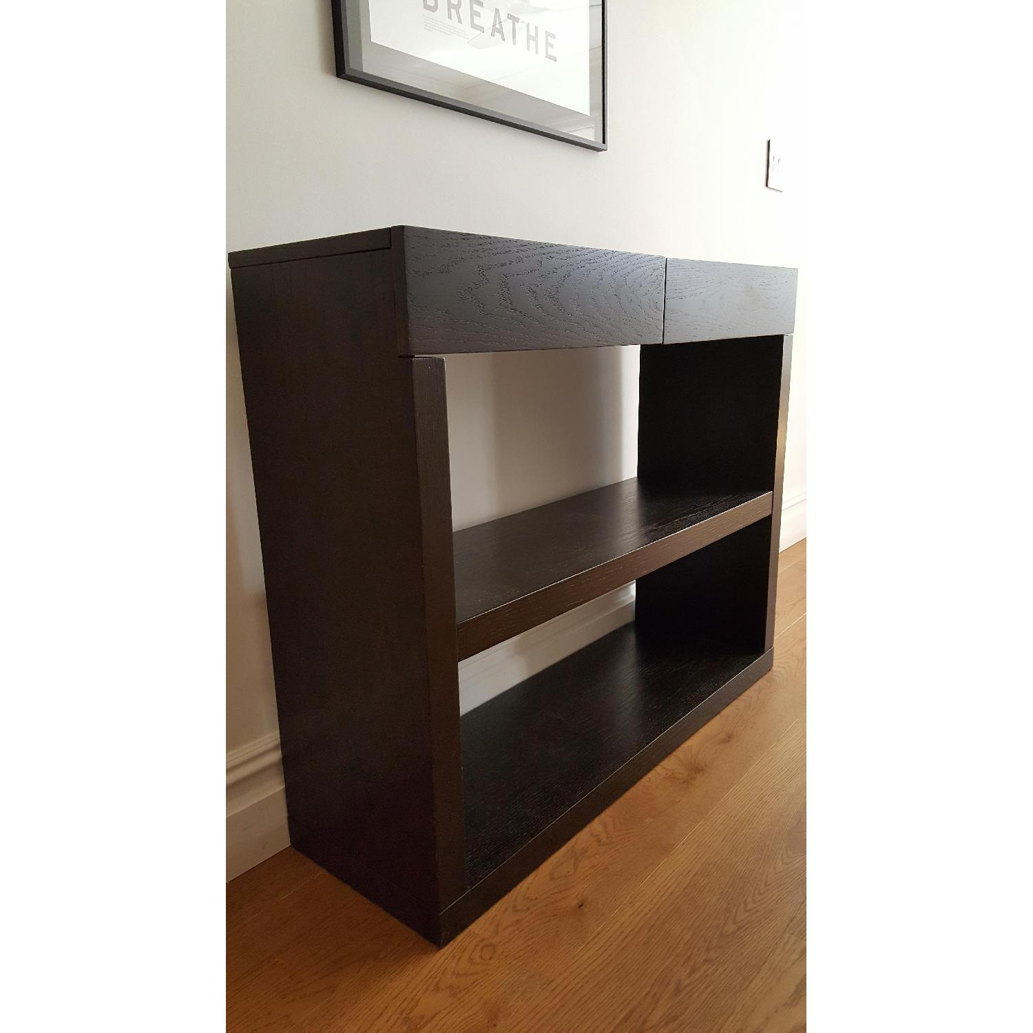 West Elm Narrow Dark Wood Console - image-2