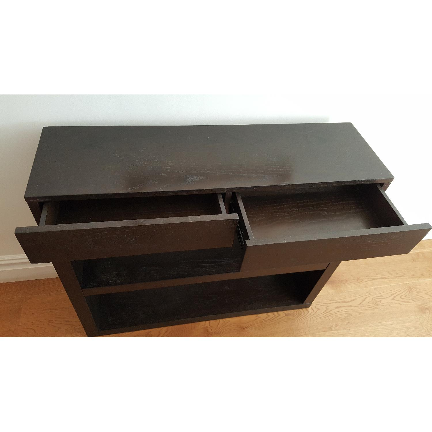 West Elm Narrow Dark Wood Console - image-3