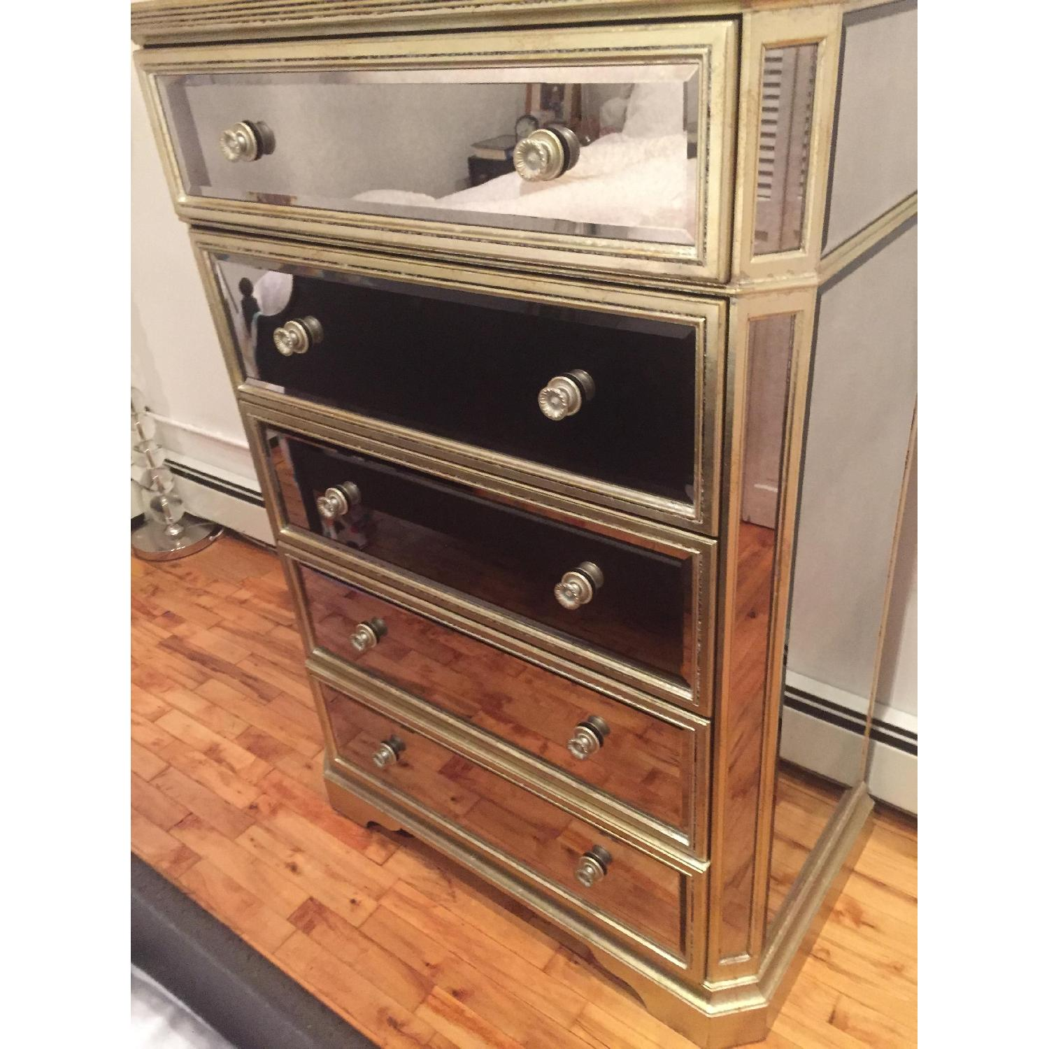 Z Gallerie Mirrored Chest of Drawers - image-5