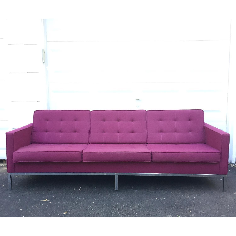 Mid-Century Modern Florence Knoll Style Three Seat Sofa - image-1