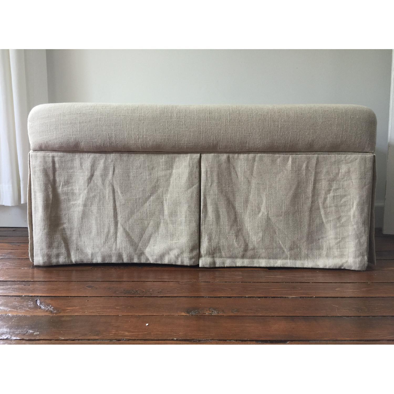 Linen Upholstered Storage Bench - image-1