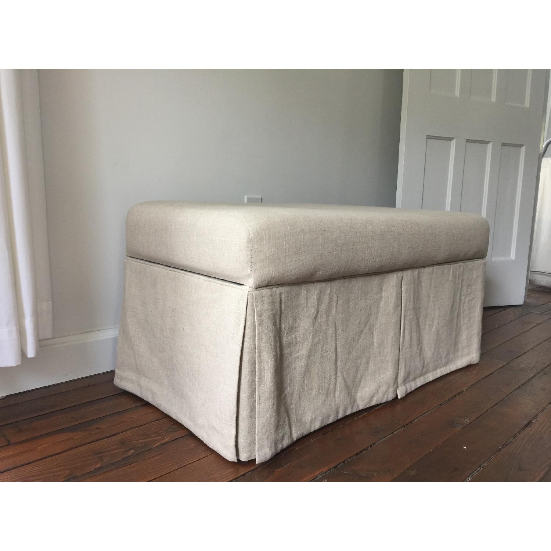 Linen Upholstered Storage Bench - image-2