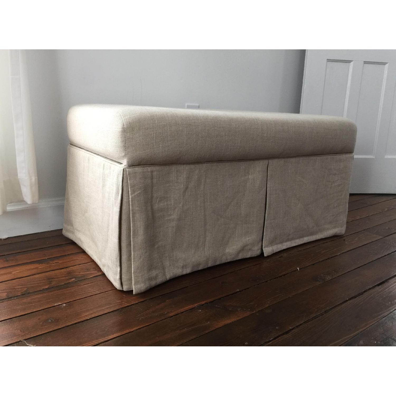 Linen Upholstered Storage Bench - image-3