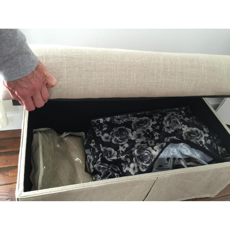 Linen Upholstered Storage Bench - image-4