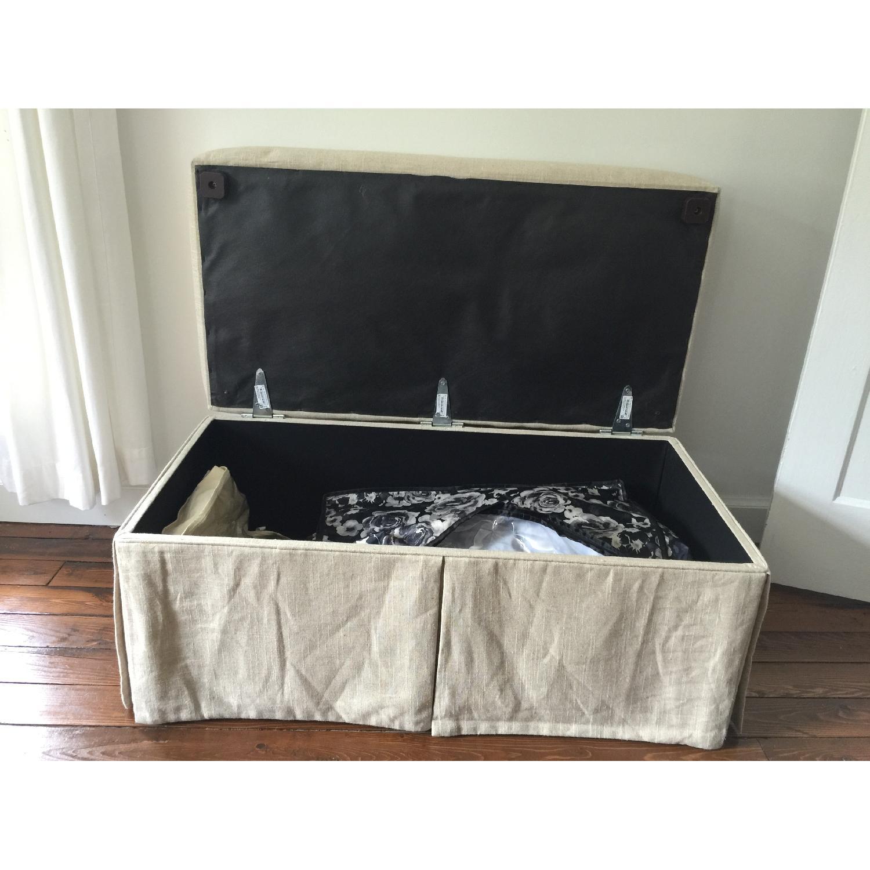 Linen Upholstered Storage Bench - image-6