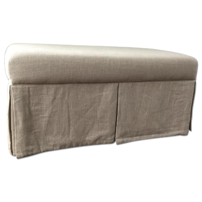 Linen Upholstered Storage Bench - image-0