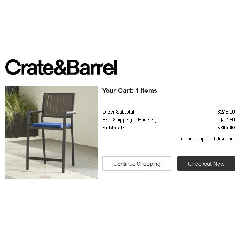 Crate & Barrel Alfresco Bar Stool - image-1