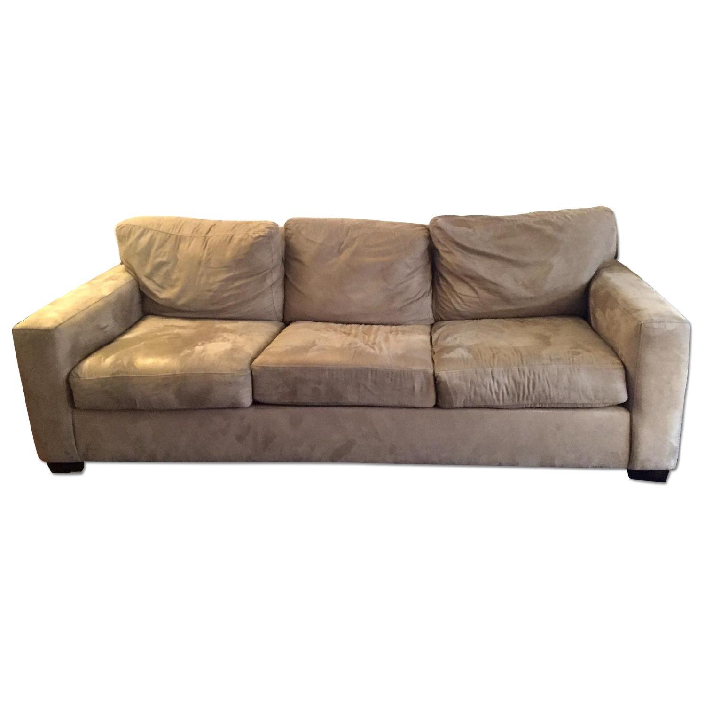 - Microsuede Sleeper Sofa - AptDeco