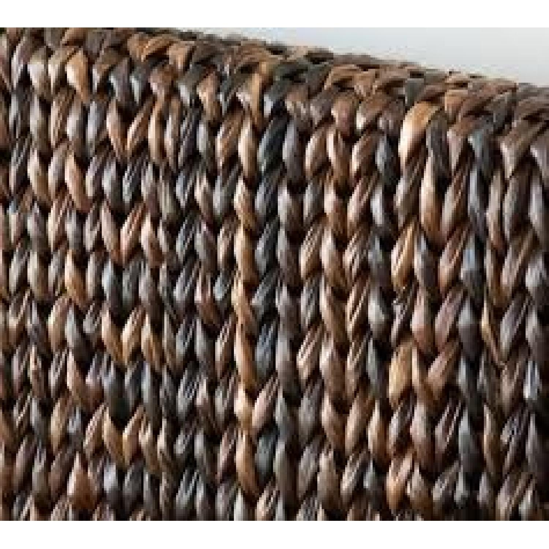 Pottery Barn Queen Dark Havana Seagrass Headboard - image-1