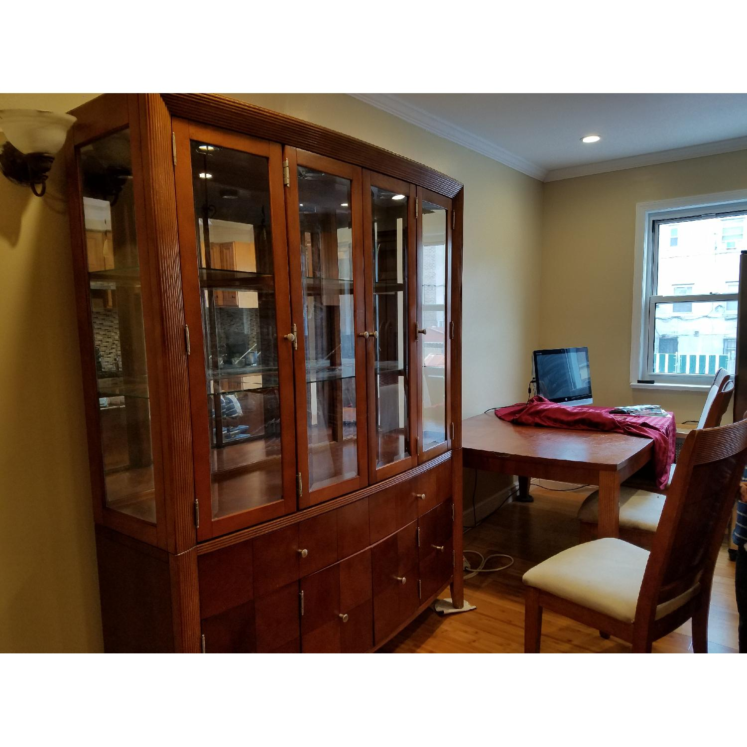 Dining Table w/ 4 Chairs + China Cabinet - image-6