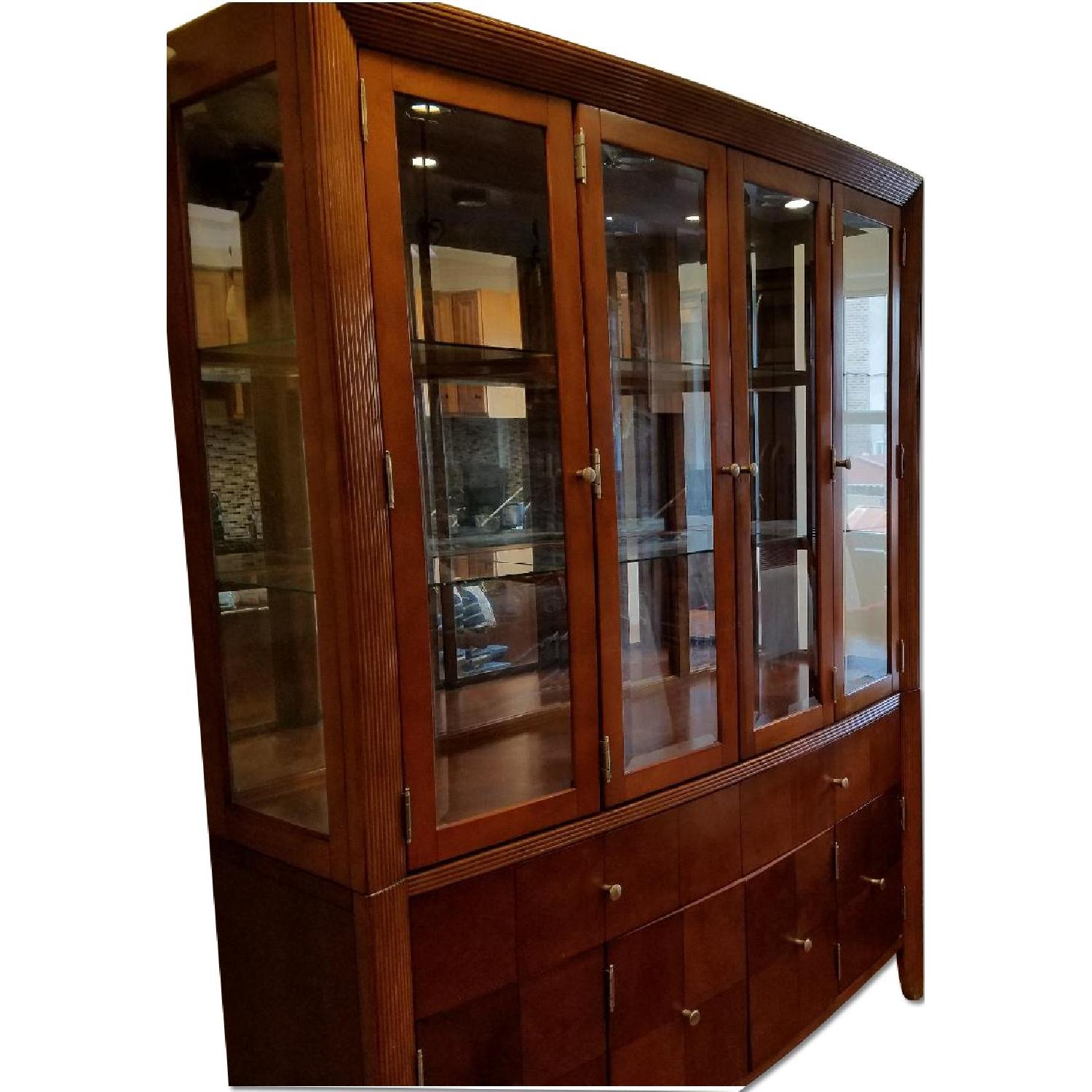 Dining Table w/ 4 Chairs + China Cabinet - image-0