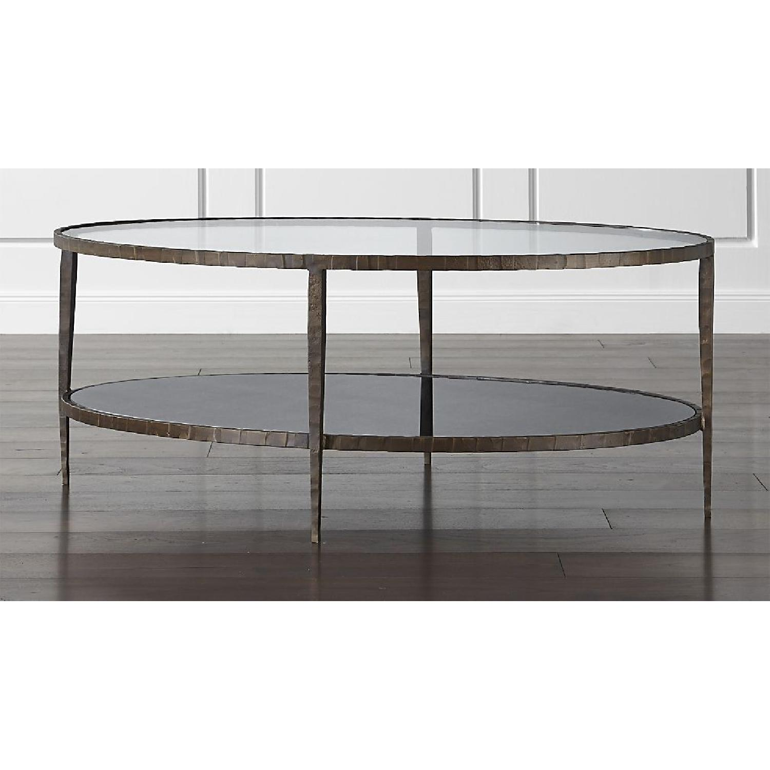 Crate & Barrel Claremont Oval Coffee Table - image-1