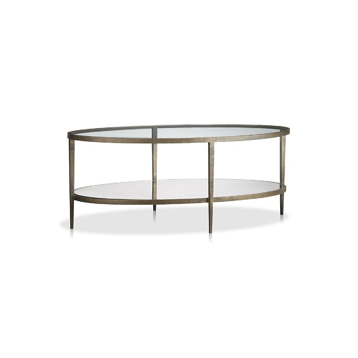 Crate & Barrel Claremont Oval Coffee Table - image-2