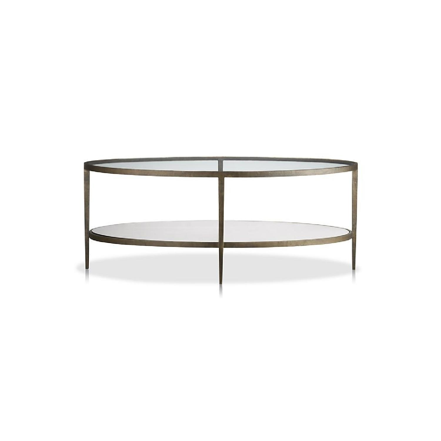 Crate & Barrel Claremont Oval Coffee Table - image-3