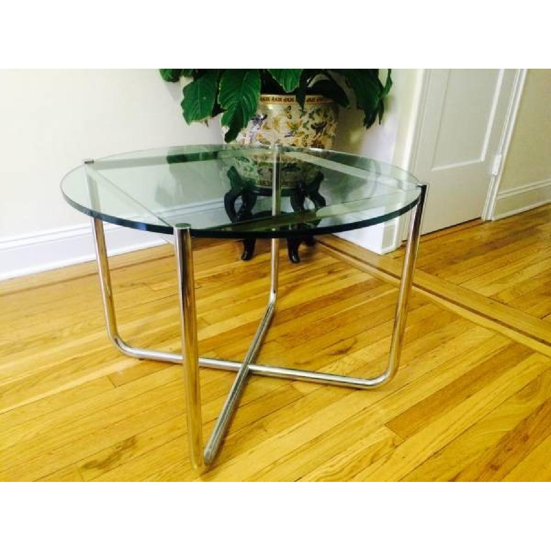 Knoll MR Chrome & Glass Side Table - image-1