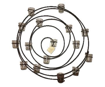 Pottery Barn Wrought Iron Spiral Wall Mount 16 Votive Candle