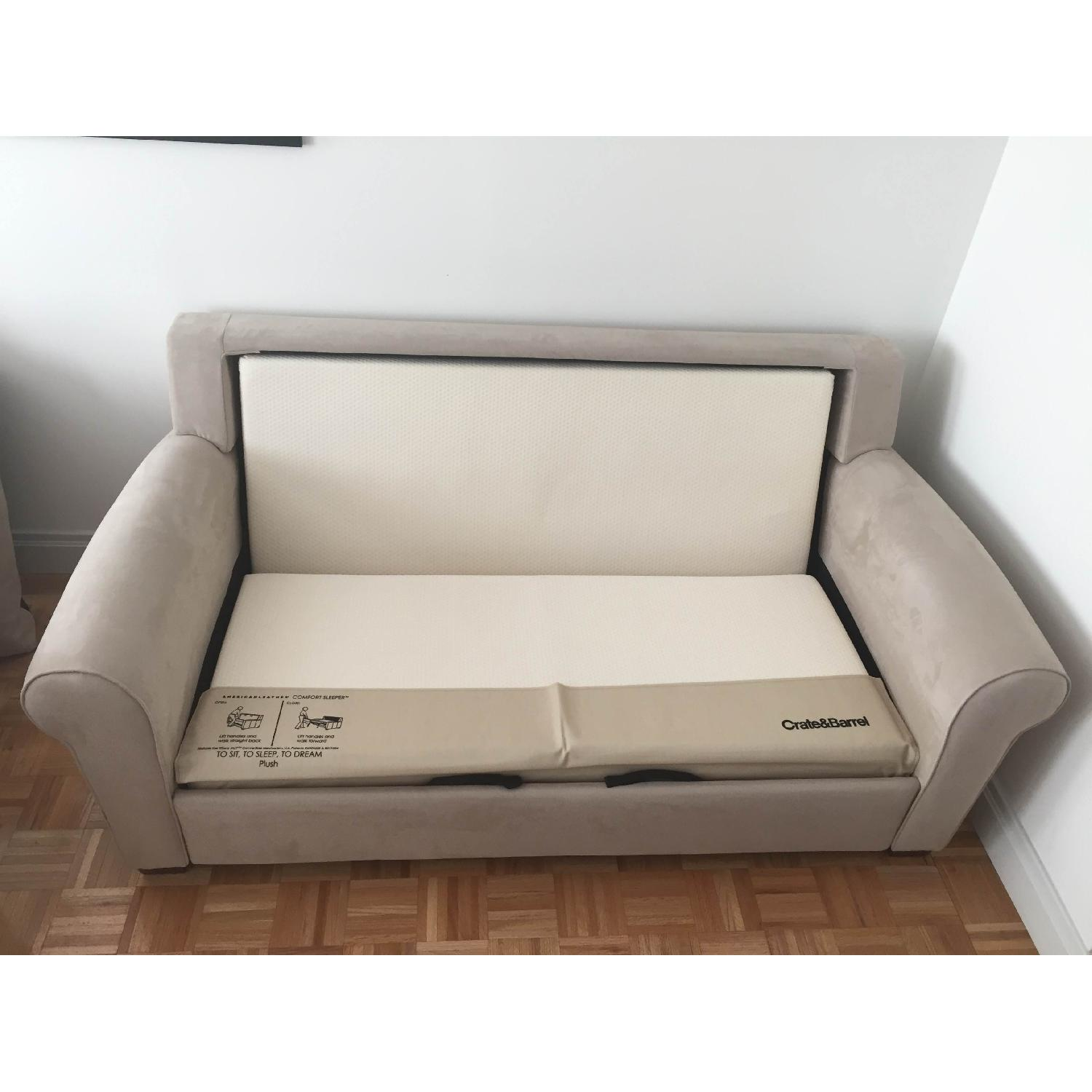 Crate & Barrel Pull Out Couch - image-5