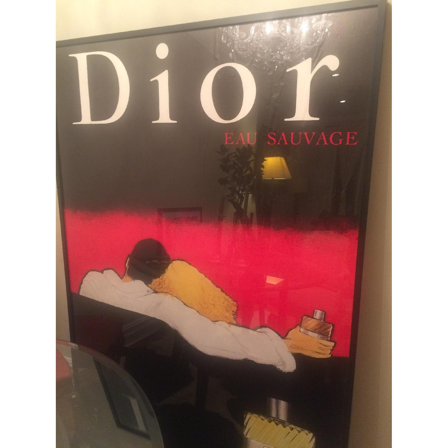 Original Vintage French Poster - Fragrance 80's Dior-Eau Sauvage - image-1