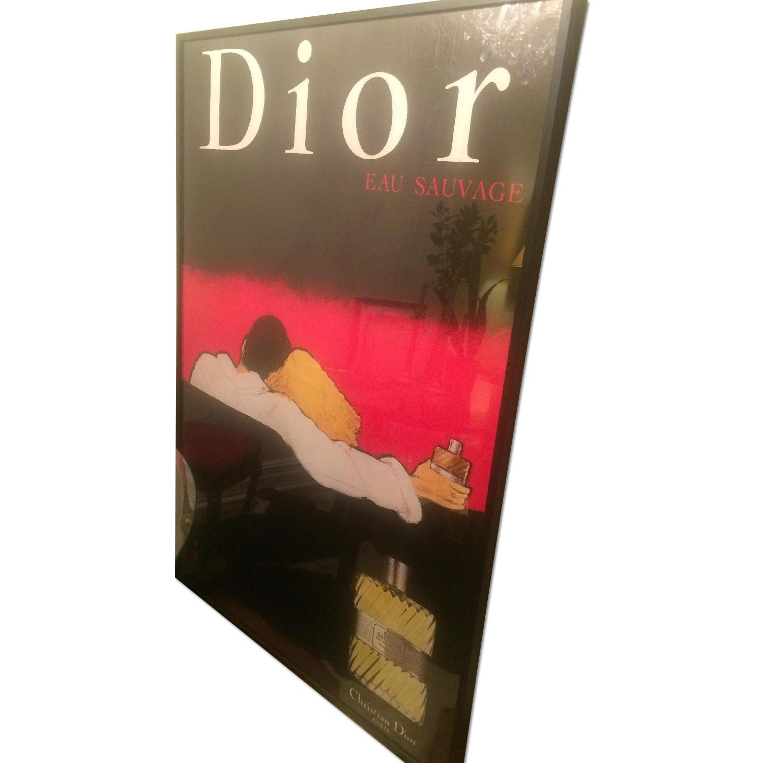 Original Vintage French Poster - Fragrance 80's Dior-Eau Sauvage - image-0