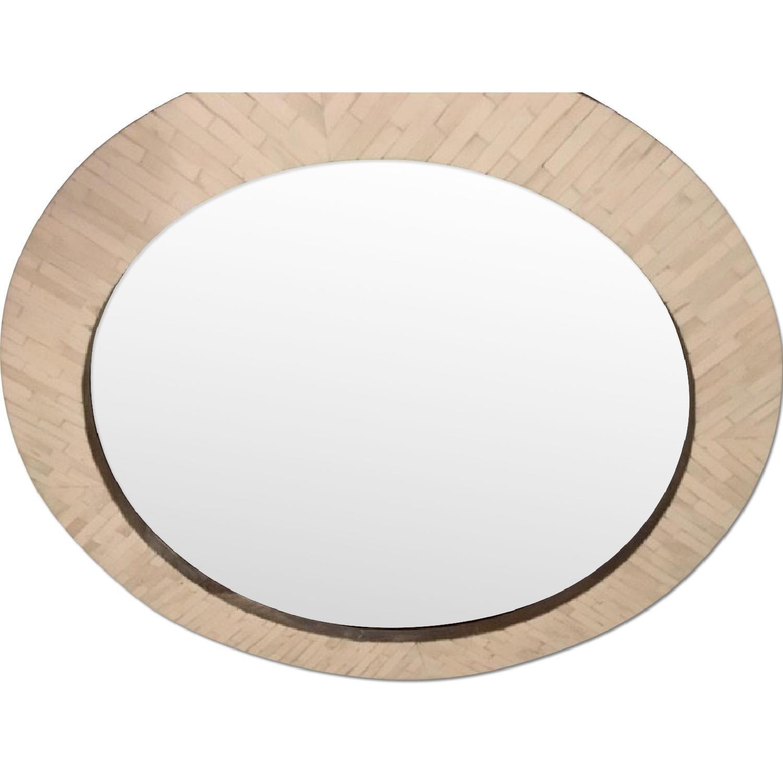 West Elm Parsons Round Mirror w/ Bone Inlay - image-0