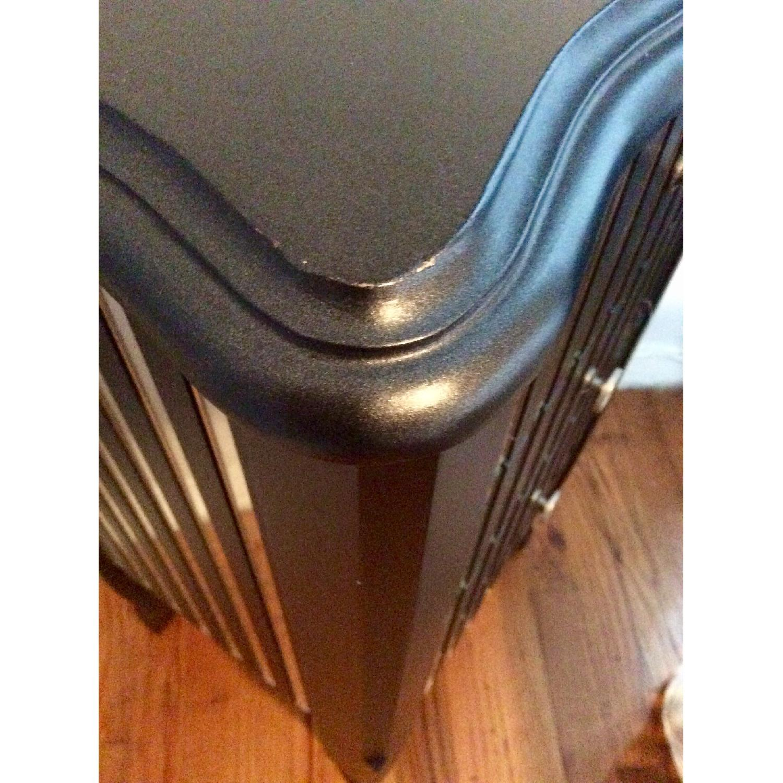 Oriel 3-Drawer Grey Mirror Striped Side Table - image-6