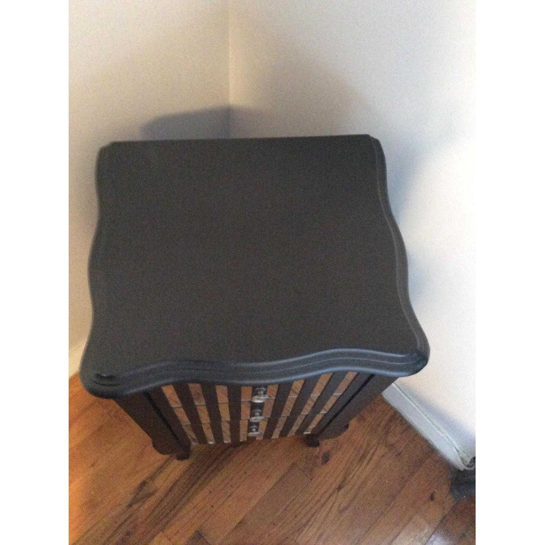 Oriel 3-Drawer Grey Mirror Striped Side Table - image-7
