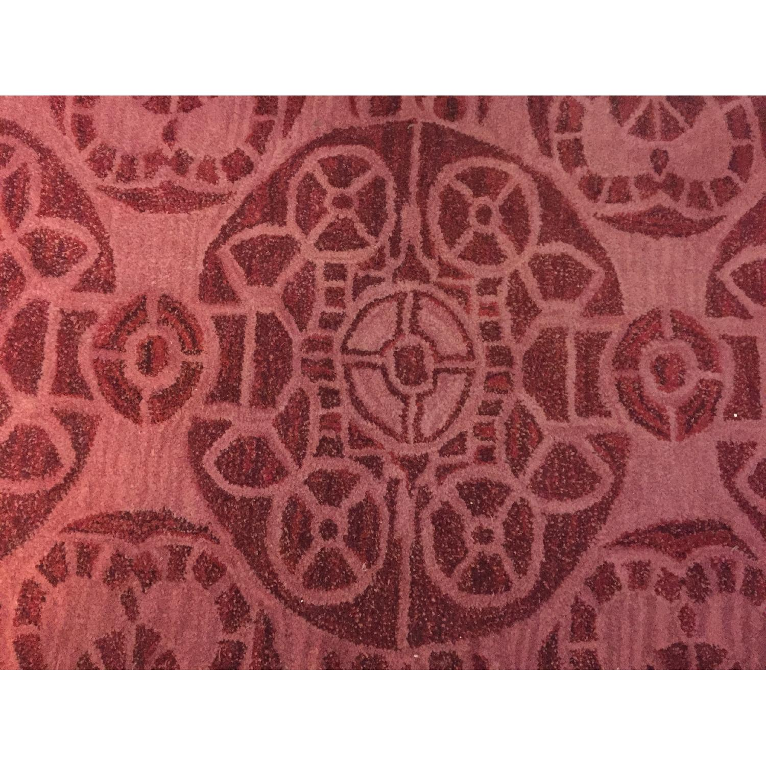One Kings Lane Red Wool Rug - image-1