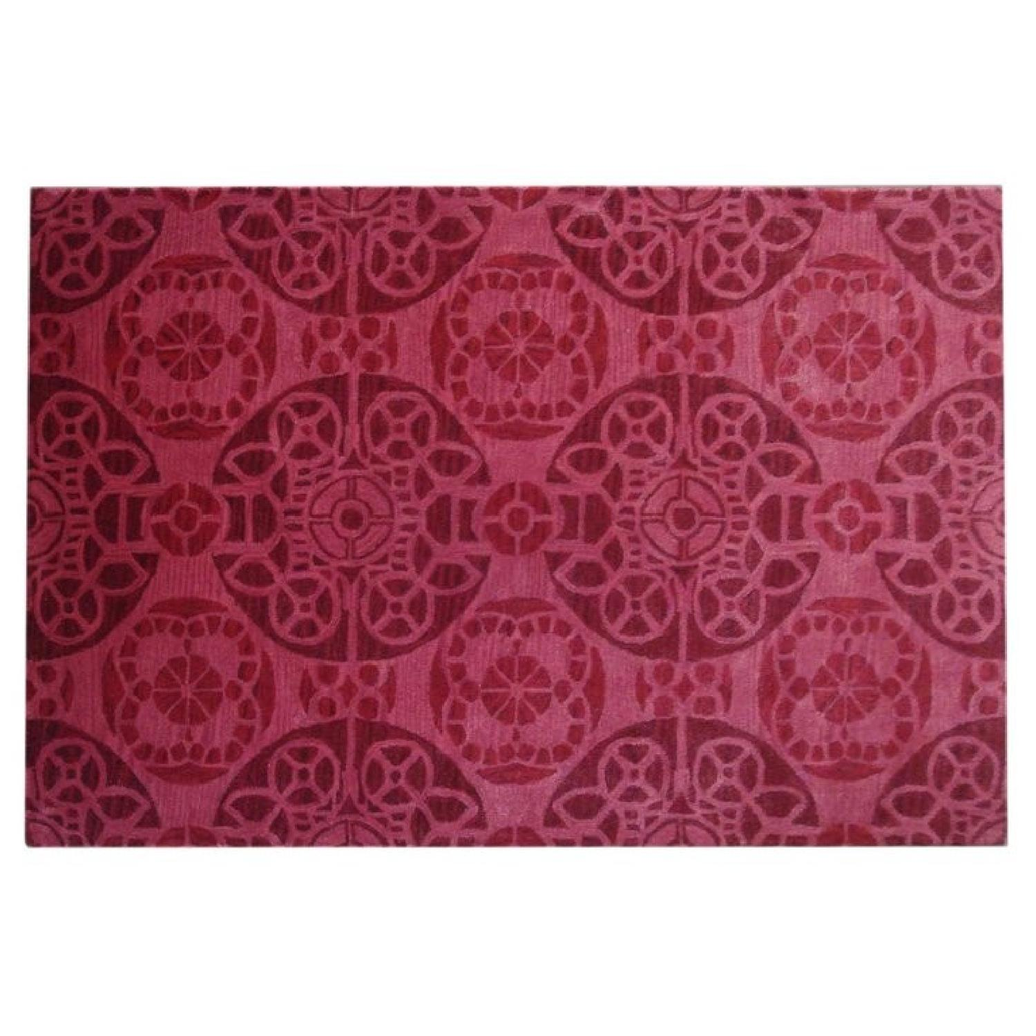 One Kings Lane Red Wool Rug - image-2